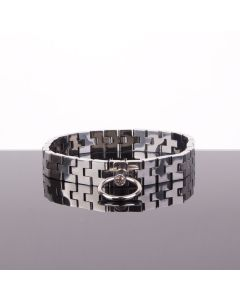 Watch band Collar with Gem Lock