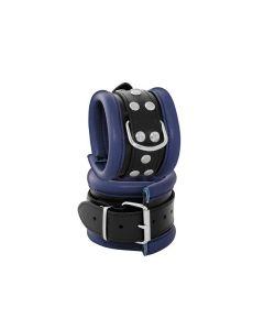 Leather Anklecuffs Blue - 6,5 cm