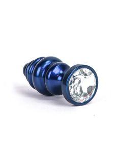 Aluminum Alloy Anal Plug 1 - Blue