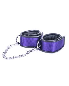 Kiotos Deluxe - Handcuffs with Metal Connector Chain - Purple