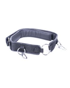 Kiotos Deluxe - Wrist to Waist Belt with 2 Carabiners - Black