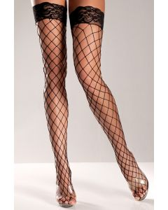 DISCONTINUED Thigh High Stockings BW617B