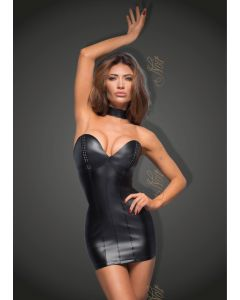 DISCONTINUED: Powerwetlook minidress with eco-leather cups - M