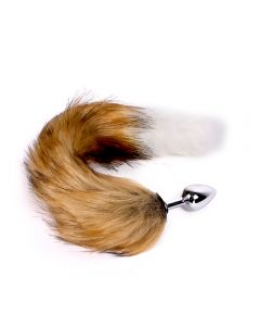 Fox Tail Plug Brown & White - Short