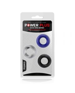 Power Plus Triple Donut Ring Set