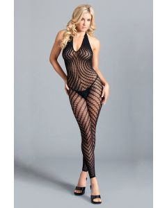 Crotchless Halter Bodystocking with Scoop Low Back BWB108
