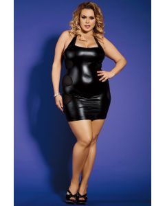 Clubwear Dress Back Mesh Stripes & G-string (L/XL)