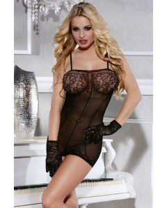 Bodystocking Fancy & Gloves