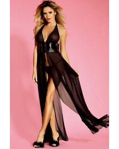 Dress Black Elegance with Thong L/XL