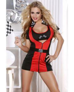 Costume Racing Flag Girl 3pc Set