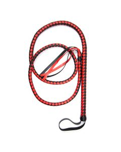 Long Black & Red Whip
