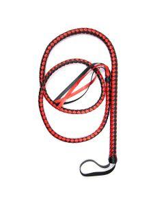 Whip 190 cm Black & Red