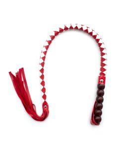 Mahogany Short Whip Red & White