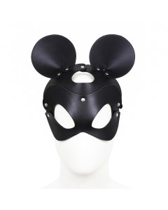 Black Mouse Leather Mask
