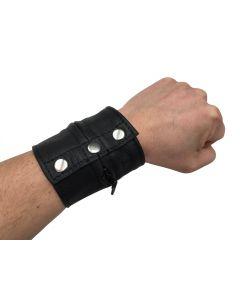 Leather bracelet wallet